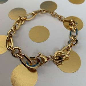 Origami Owl gold deco bracelet chain
